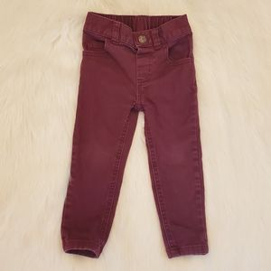 🦋3 for $10🦋Burgundy skinny jeans